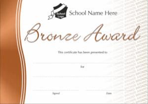 Bronze Award Metallic Effect Certificates - School Reward Certificates