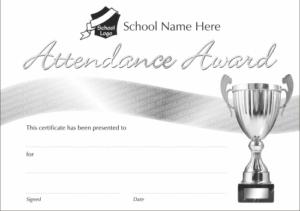 Silver Attendance Award Certificate - School Reward Certificates