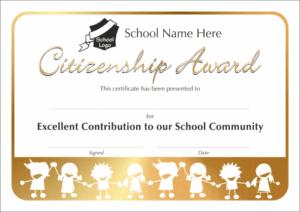Citizenship Award Certificate - School Reward Certificates