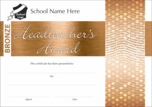 Bronze Headteacher's Award Certificate - School Reward Certificates
