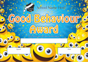 Good Behaviour Award Certificate - School Reward Certificates