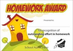 Homework Award Certificate - School Reward Certificates
