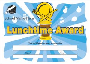 Lunchtime Award Certificate - School Reward Certificates