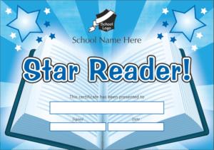 Star Reader Certificate - School Reward Certificates