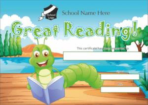 Great Reader Certificate - School Reward Certificates