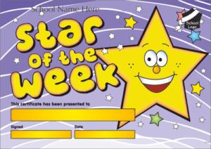 Star of the Week Certificate - School Reward Certificates