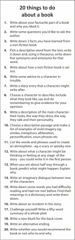 20 Things to do About a Book BMKR10