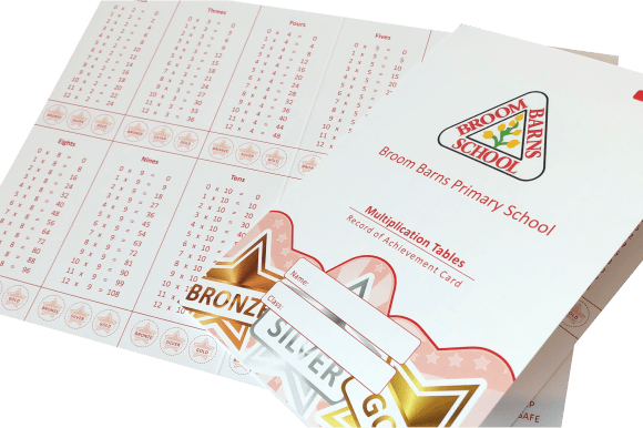 Maths Reward Cards - Educational printing for primary schools