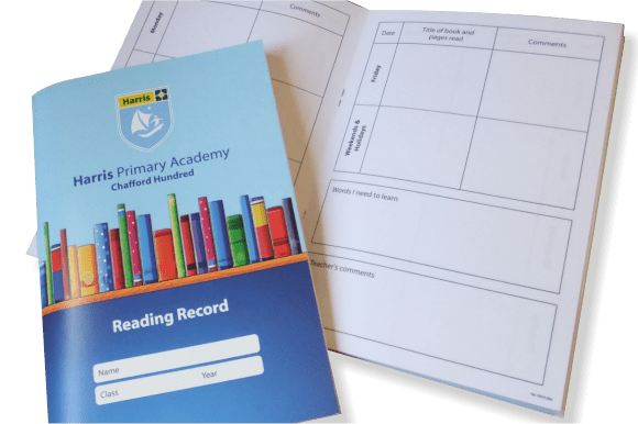 Fully Customised Reading Record Booklets - Educational printing for primary schools
