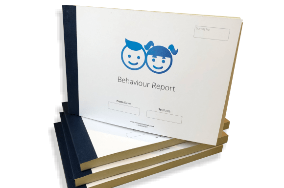 Pupil Behaviour Report Form Books - Tables Log Booklets - Educational printing for primary schools