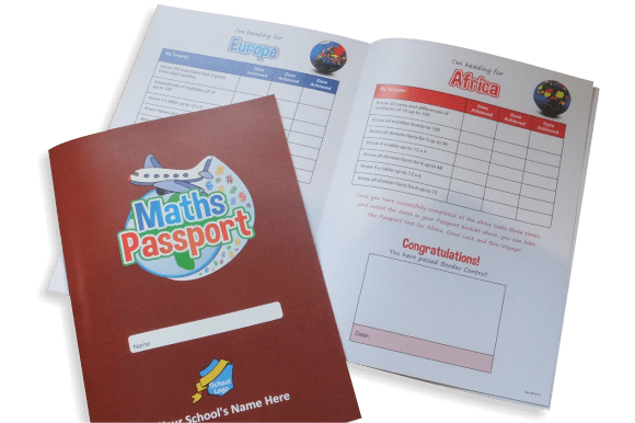 Maths Passport Booklets - Tables Log Booklets - Educational printing for primary schools