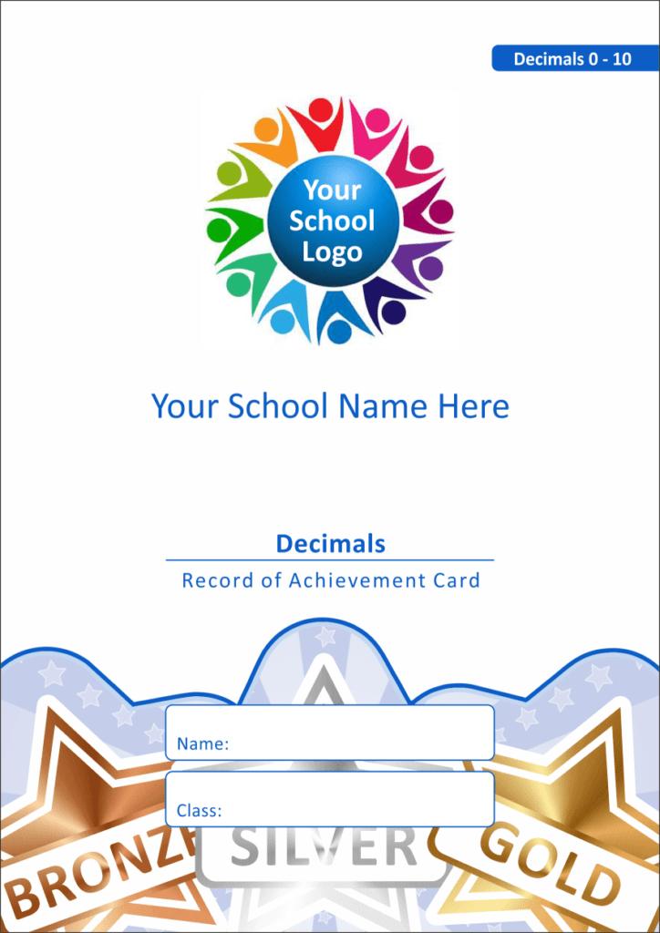 Maths Reward Cards - Decimals