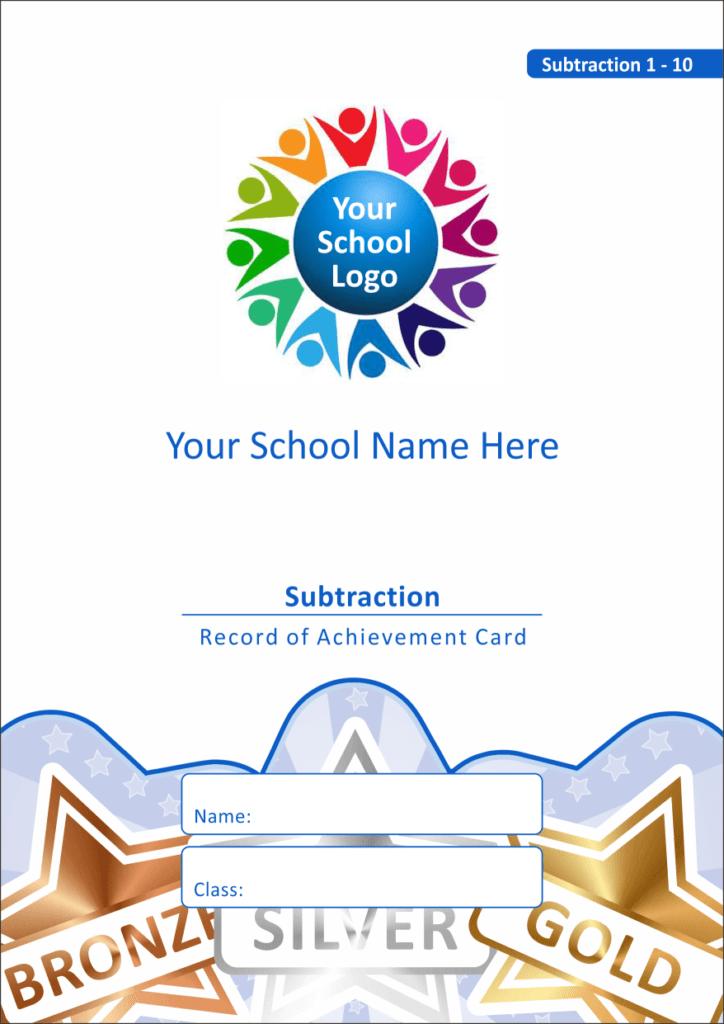 Maths Reward Cards - Subtraction 1 - 10