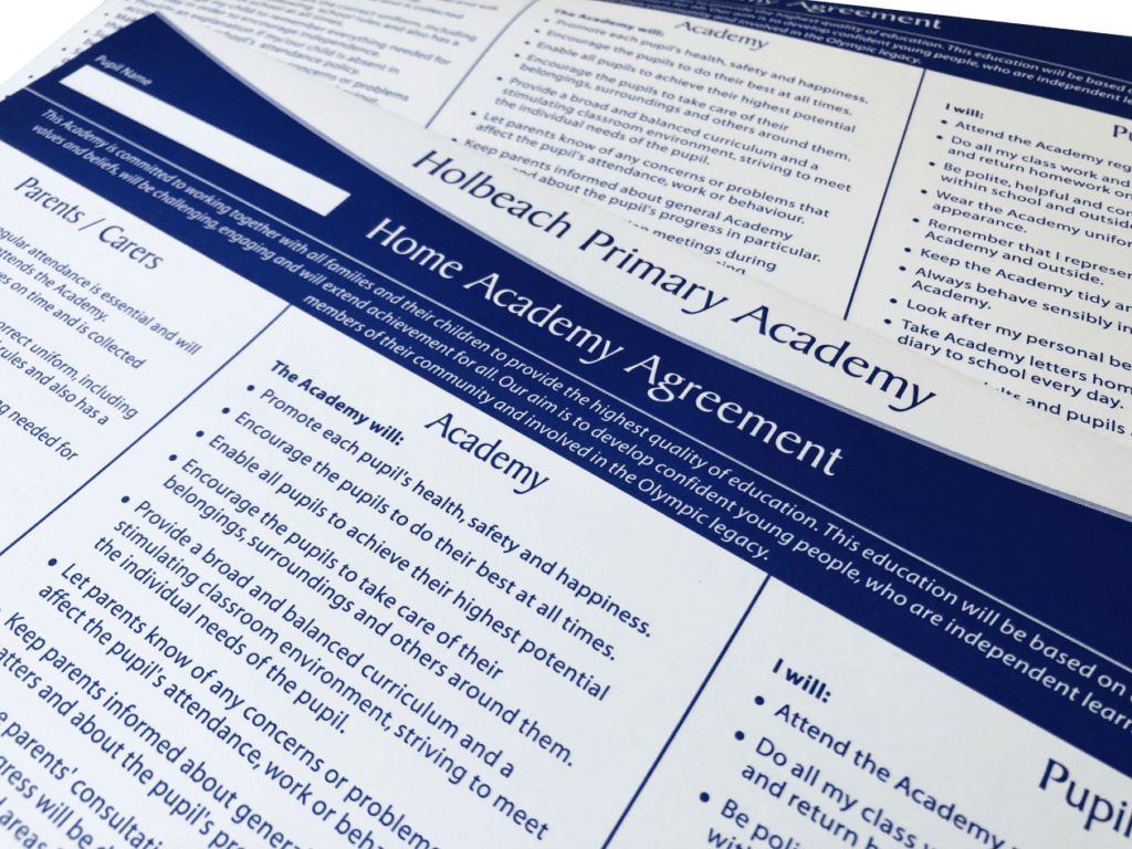 Fully Customised Home School Agreement Forms
