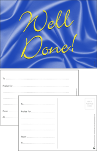 Well Done Classic Praise Postcard - Praise & Reward Postcards for Schools