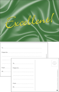 Excellent Classic Praise Postcard - Praise & Reward Postcards for Schools