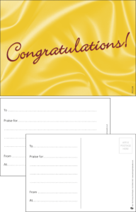 Congratulations Classic Praise Postcard - Praise & Reward Postcards for Schools