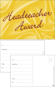 Headteacher Award Classic Praise Postcard - Praise & Reward Postcards for Schools