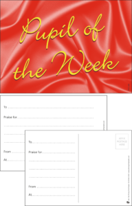 Pupil Of The Week Classic Praise Postcard - Praise & Reward Postcards for Schools