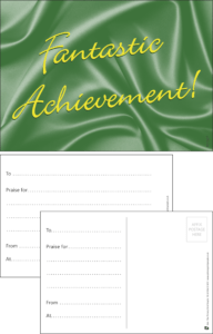 Fantastic Achievement Classic Praise Postcard - Praise & Reward Postcards for Schools