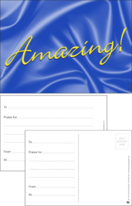 Amazing Classic Praise Postcard - Praise & Reward Postcards for Schools