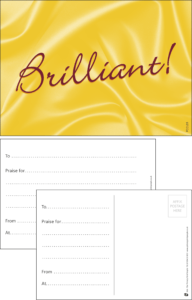 Brilliant Classic Praise Postcard - Praise & Reward Postcards for Schools