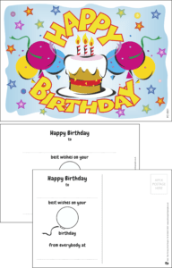 Happy Birthday Cake Praise Postcard - Praise & Reward Postcards for Schools