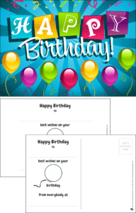 Happy Birthday Party Praise Postcard - Praise & Reward Postcards for Schools