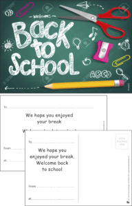 Welcome Back Board Praise Postcard - Praise & Reward Postcards for Schools