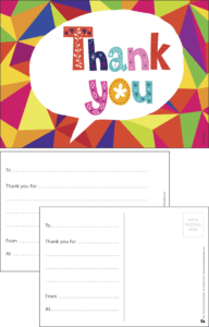 Thank You Bubble Praise Postcard - Praise & Reward Postcards for Schools