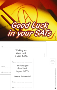 Good Luck SATs Praise Postcard - Praise & Reward Postcards for Schools