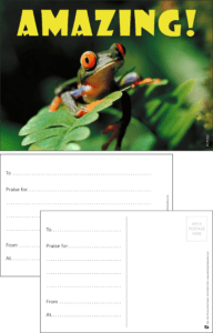 Amazing Frog Praise Postcard - Praise & Reward Postcards for Schools