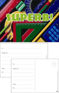 Super Equipment Praise Postcard - Praise & Reward Postcards for Schools