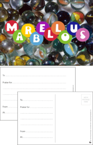 Marbellous Marbles Praise Postcard - Praise & Reward Postcards for Schools