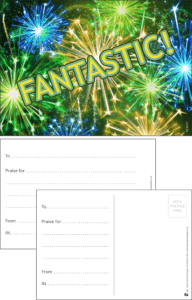 Fantastic Fireworks Praise Postcard - Praise & Reward Postcards for Schools