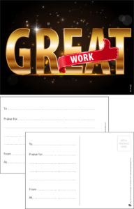 Great Work Praise Postcard - Praise & Reward Postcards for Schools