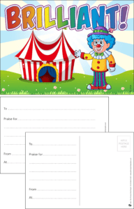 Brilliant Circus Praise Postcard - Praise & Reward Postcards for Schools