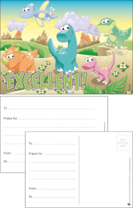 Excellent Dinosaurs Praise Postcard - Praise & Reward Postcards for Schools