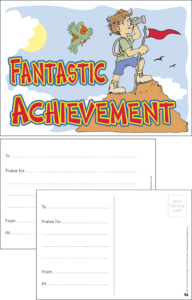 Fantastic Achievement Praise Postcard - Praise & Reward Postcards for Schools