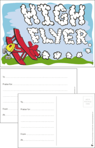 High Flyer Aeroplane Praise Postcard - Praise & Reward Postcards for Schools