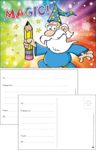 Magic Wizard Praise Postcard - Praise & Reward Postcards for Schools