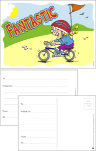 Fantastic Bike Praise Postcard - Praise & Reward Postcards for Schools