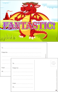 Fantastic Dragon Praise Postcard - Praise & Reward Postcards for Schools