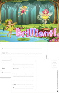 Brilliant Fairies Praise Postcard - Praise & Reward Postcards for Schools