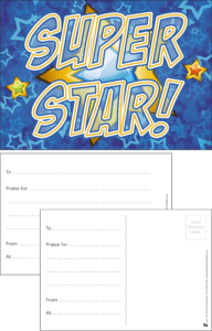 Super Star Praise Postcard - Praise & Reward Postcards for Schools