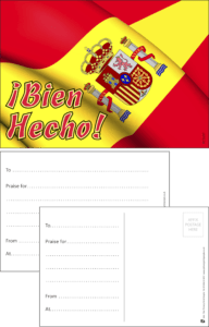 Bien Hecho Spanish Language Praise Postcard - Praise & Reward Postcards for Schools