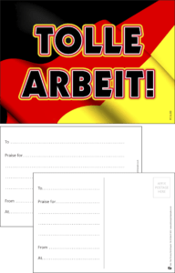 Tolle Arbeit German Language Praise Postcard - Praise & Reward Postcards for Schools
