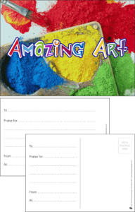Amazing Art Praise Postcard - Praise & Reward Postcards for Schools