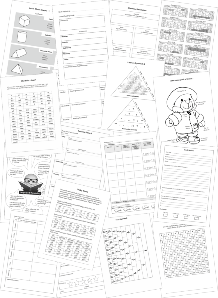 Reading Record Booklets Page Library