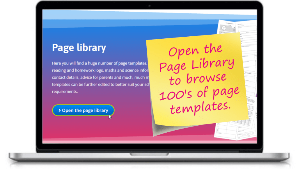 Open the custom reading record booklet page library
